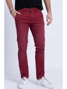 Vínové chinos kalhoty Pepe Jeans SLOANE