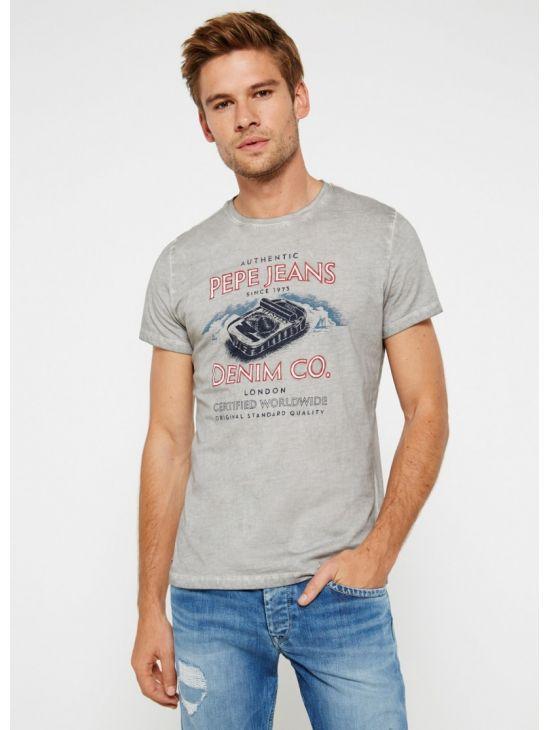 Šedé pánské triko Pepe Jeans GEMINI