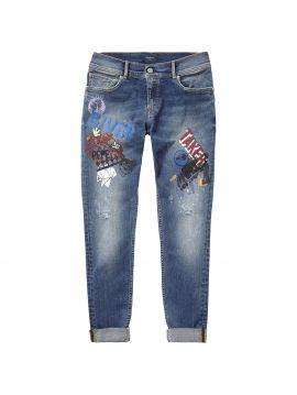 Džíny s potiskem Pepe jeans JOEY CARTOON