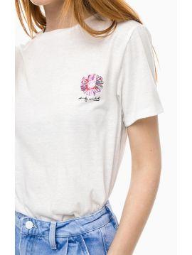 Andy Warhol triko s květinou Pepe Jeans VANESSA