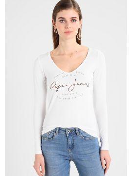 Bílé triko s dlouhým rukávem Pepe Jeans ELSI