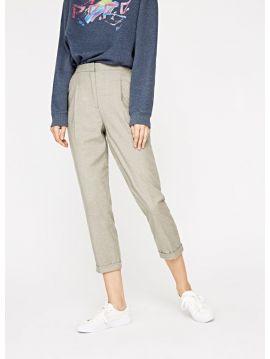Elegantní šedé kalhoty Pepe Jeans INGRID