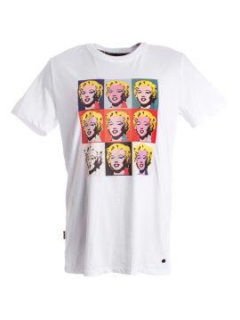 Bílé triko Andy Warhol Pepe Jeans GRID
