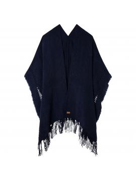 Tmavě modré pončo s vetkaným vzorem Pepe Jeans FELISA