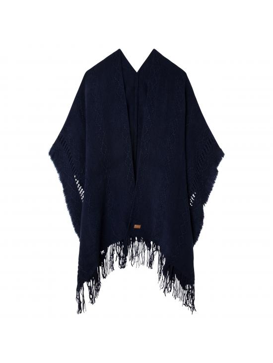 Tmavě modré pončo s vetkaným vzorem Pepe Jeans FELISA. Loading zoom 0f39ca34d2