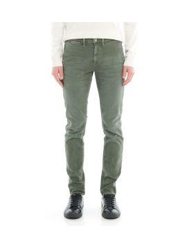 Zelené džínové chinos kalhoty Pepe Jeans JAMES