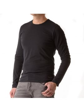 Triko s dlouhým rukávem Pepe Jeans ORIGINAL BASIC černé