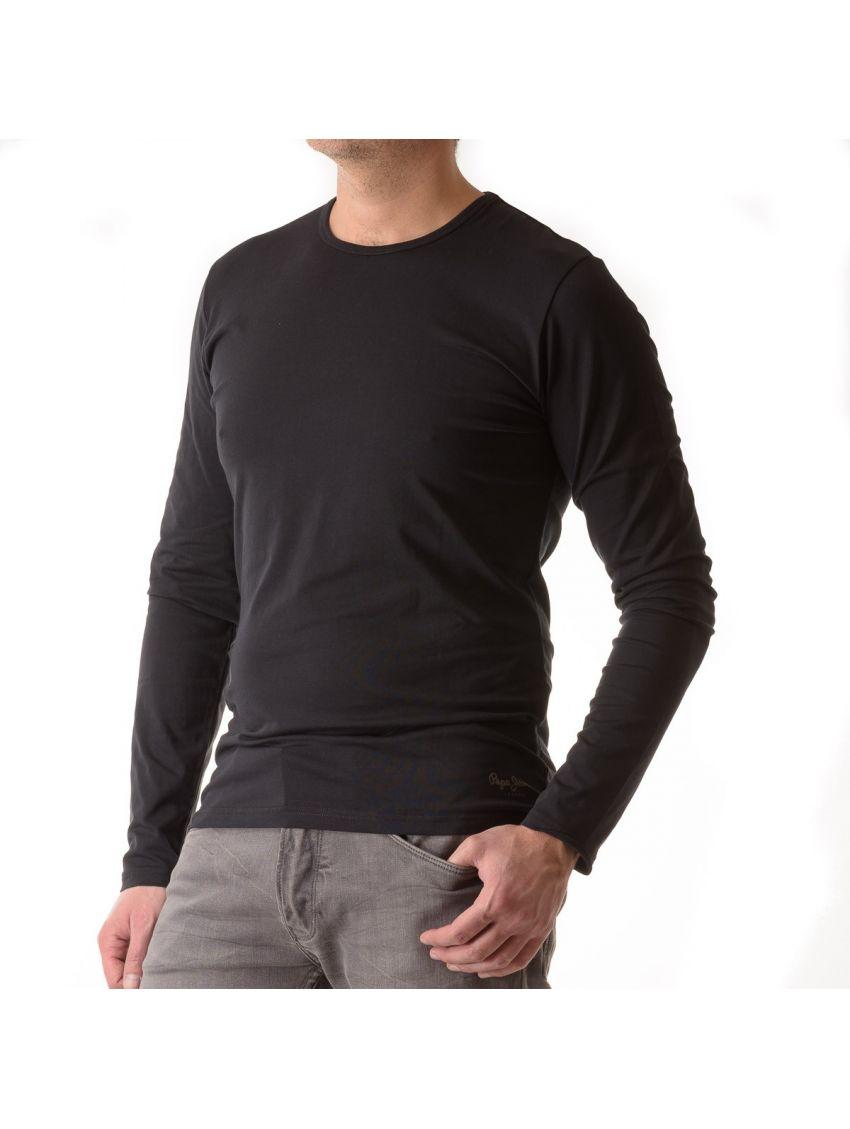 Triko s dlouhým rukávem Pepe Jeans ORIGINAL BASIC černé. Loading zoom ea390656ca