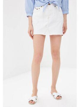 Bílá džínová minisukně Pepe Jeans DANI