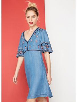 šaty s výšivkou Pepe Jeans URSULAa
