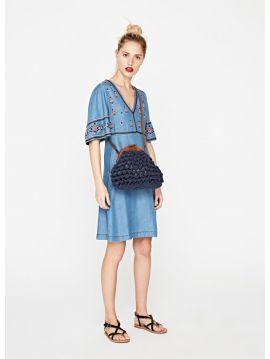 šaty s výšivkou Pepe Jeans URSULA