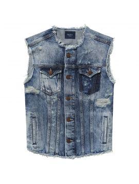 Džínová otrhaná vesta Pepe Jeans VALLEYb