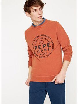 Oranžová pánská mikina Pepe Jeans MASSEOTa