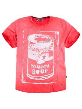 Andy Warhol červené triko Pepe Jeans GLOWb