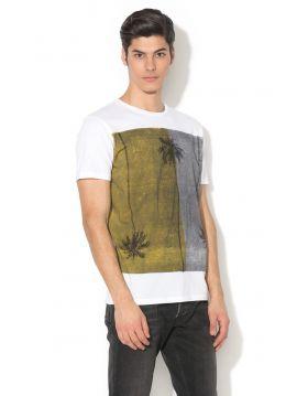 Bílá triko s printem Pepe Jeans LATIMAR
