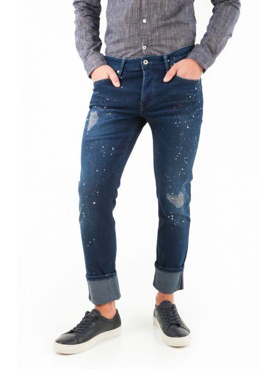 Modré džíny s cákanci Pepe Jeans STANLEY SPOT