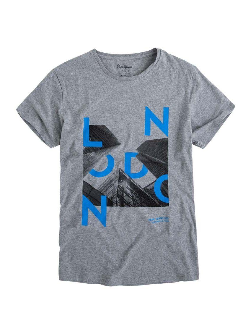 Pánské šedé triko Pepe Jeans ROWENA - 919 CONCEPT STORE 5094ef2553