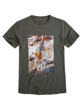 Khaki pánské triko pepe Jeans RIZA