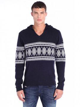 Pánský zimní vlněný svetr s kapucí Diesel K-AMSA