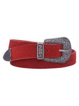 Červený pásek s ozdobnou sponou Pepe Jeans HALLIE