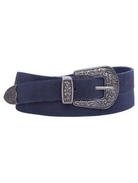Modrý pásek s ozdobnou sponou Pepe Jeans HALLIE