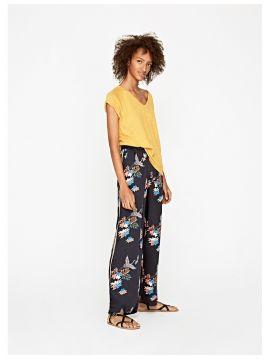 Květované volné kalhoty Pepe Jeans BEEA