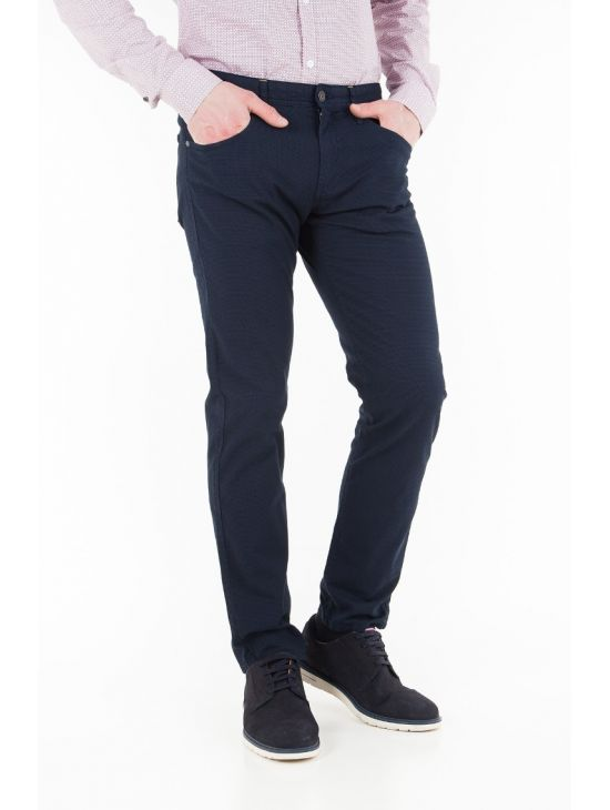 Pánské modré plátěné kalhoty Pepe Jeans JACQUARD - 919 CONCEPT STORE bb076dfcef