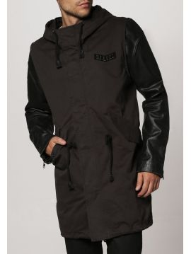 Pánská parker bunda s koženými rukávy Diesel L-NAIMAa