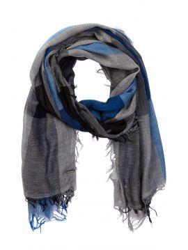 Pánský kostkovaný šedo modrý šátek Diesel SAARA