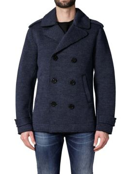 Zimní modrý vlněný pánský kabát Diesel K-ILAN-A