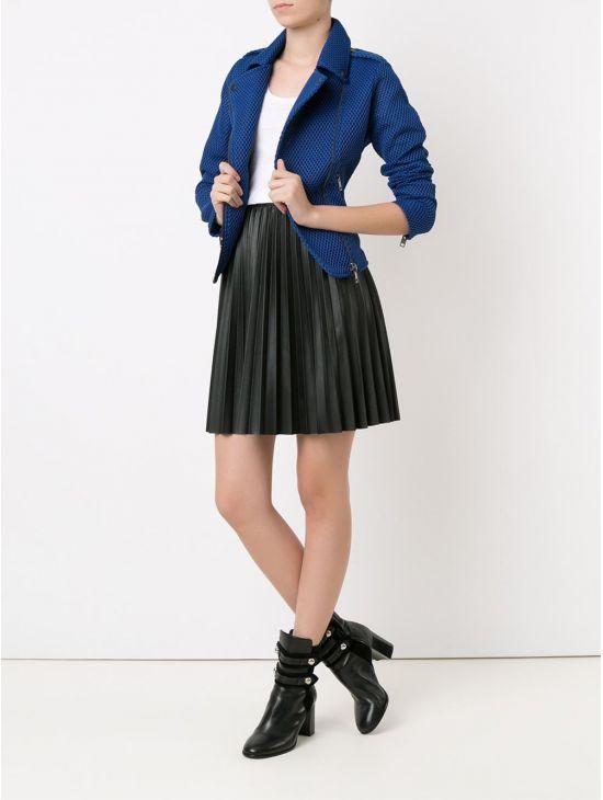 Modrá perforovaná bunda DIESEL G-LUPUS-Bb