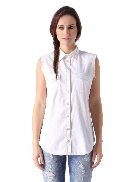 Džínová košile bez rukávů Diesel DE-SOVITA