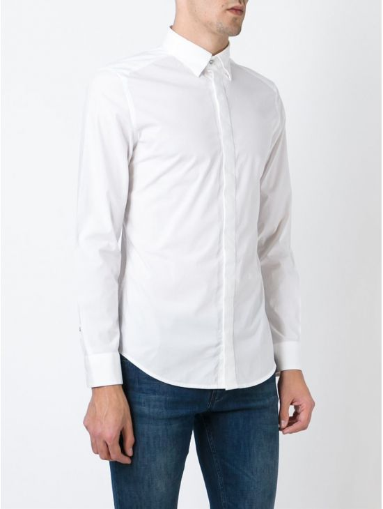 Pánská bílá slim košile Diesel S-NAP