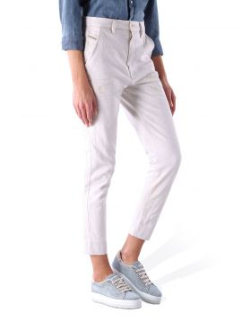 Bílé kalhoty s vyšším pasem Diesel SLIM-CHINO F