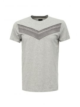 Pánské šedé triko s kontrastním džínovým V Diesel T-VEGAL