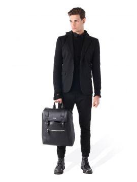 Pánské černé sako s odepínací kapucí  Diesel J-SWESLc