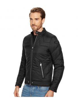 Černá pánská zimní bunda střih biker Diesel W-DEACON