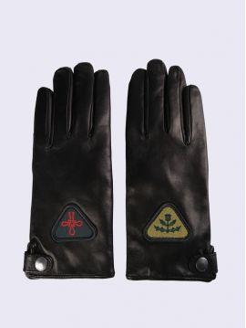 Dámské kožené rukavice s nášivkami Diesel GABBY-FL
