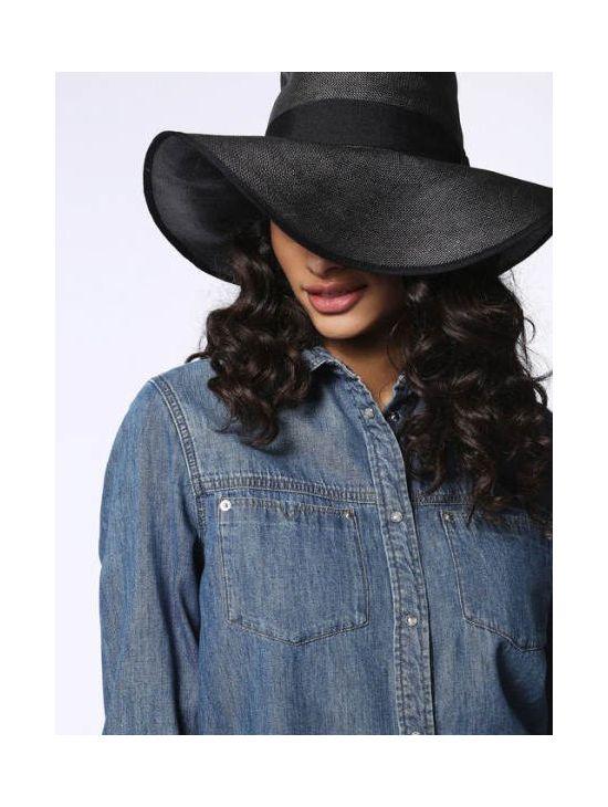 Elegantní velký černý klobouk Diesel COTYER