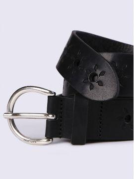 Dámský černý kožený pásek Diesel B-ALLA