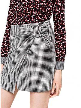 Černobílá sukně s mašlí Pepe Jeans ELSA
