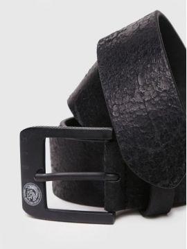 Pánský černý kožený opasek Diesel B-PROF.LEE
