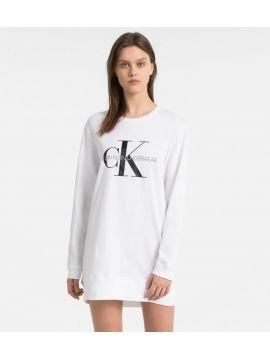 Šaty - dlouhý top Calvin Klein QS6152E bílé