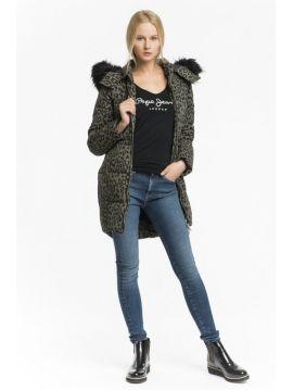 Zimní kabát bunda s kožichem Pepe Jeans FLEUR