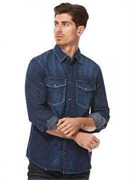 Pánská džínová modrá košile Diesel D-ROOKE