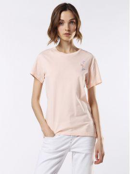 Dámské pudrové tričko Diesel T-SULLY-AP