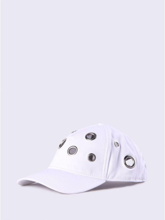 Bílá kšiltovka s koly čepice Diesel CIRKLE