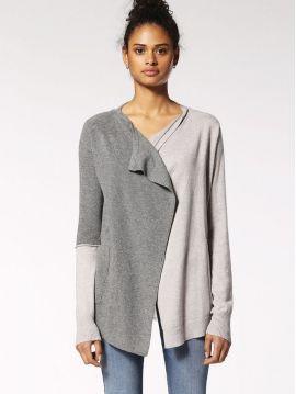 Dámský cardigan svetr s šifonem Diesel M-AWAI