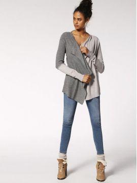 Dámský cardigan svetr s šifonem Diesel M-AWAId