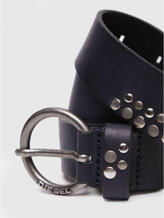Dámský kožený černý opasek rock chic Diesel B-WANNA - 919 CONCEPT STORE 4385ff9282
